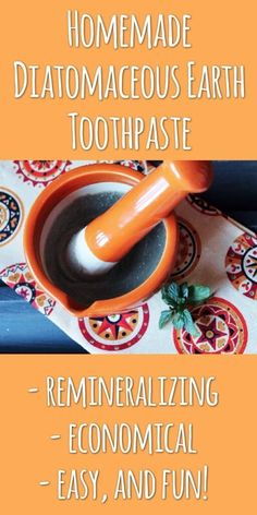 Learn how to make homemade diatomaceous earth toothpaste for teeth remineralization.