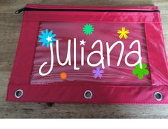 Back to School,, Personalized Pencil Pouch, Binder Pouch, Many colors available