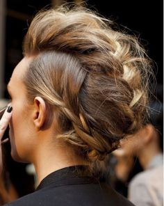 Love this modern updo.
