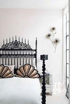Bohemian boudoir.