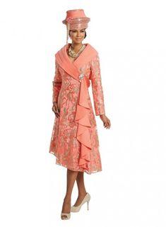 d858583c9db1f Donna Vinci Couture 5621 Print Church Dress