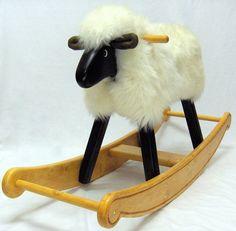 Ivory Fleece Rocking Ewe | Etsy Amazing Decor, Garden Items, Hard Floor, Creamy White, Household Items, Glass Art, Ivory, Etsy, Masters