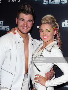 Army National Guard Specialist Alek Skarlatos (L) and dancer/TV personality Lindsay Arnold attend 'Dancing with the Stars' Season 21 at CBS Televison City on November 9, 2015 in Los Angeles, California.
