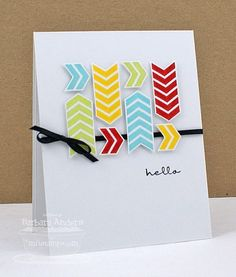 Birthday Hello - Handmade Card: