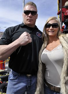 Brock Lesnar and his wife Rena
