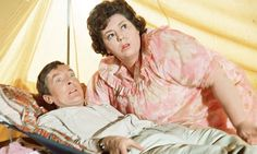 Kenneth Williams and Hattie Jacques in Carry on Camping