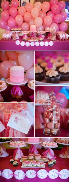 Pink Ombre Baby Shower