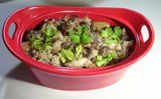 Chicken And Wild Rice Casserole Recipe, creamy with sauteed mushrooms and onions in a sour cream sauce and sherry. Components cooked separetely to give you a heightened taste experience. Chicken Rice Casserole, Casserole Dishes, Casserole Recipes, Mushroom Rice, Mushroom And Onions, Sauteed Mushrooms, Creamed Mushrooms, Chef Dishes, Chicken And Wild Rice