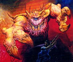 80s fantasy - Astral Dreadnought on the AD&D Manual of the Planes… …one of my all time fave Jeff Easley artworks