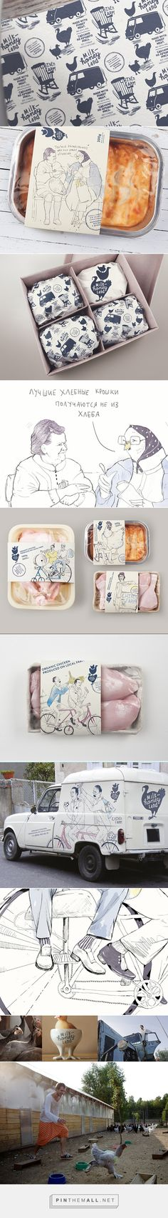 Milk & Honey Land. Depot WPF packaging on Behance by Vera Zvereva, Moscow, Russian Federation should bring a smile to your face curated by Packaging Diva PD.