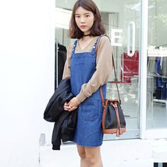 ._. Korean Ulzzang, Asian Fashion, Overalls, Fashion Looks, Street, My Style, Clothes, Outfits, Vintage