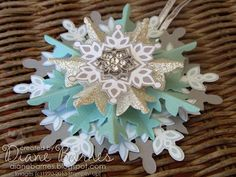 Festive Flurry Snowflake ornaments by Diane Barnes