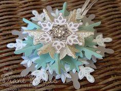Festive Flurry Snowflake ornaments by Diane Barnes