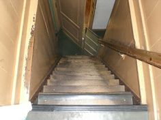 Amsterdam, The Netherlands ~ The Anne Frank House  These are the stairs behind the bookcase where they hid.