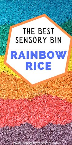 Rainbow rice is the secret weapon in every mommy arsenal. If you have toddlers or preschoolers at home, you need rainbow rice. It is by far the best sensory tub filler I have ever had and better still, you can use it in arts and crafts activities for kids too. Find out how to make rainbow rice as well as one super easy hack for keeping it mess free.    #sensory #toddler #preschool Sensory Bins, Sensory Activities, Craft Activities For Kids, Toddler Activities, Toddler Preschool, Rainbow Rice, Crafts For 3 Year Olds, Toddler Fun, Fine Motor Skills