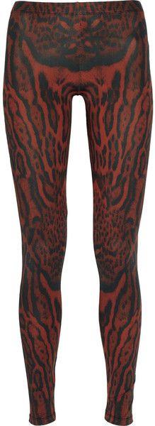 Ocelotprint Stretch Satinjersey Leggings - Lyst