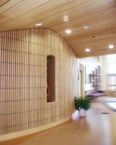 Wooden suspended ceiling / tile / wind-proof - PLASLINE - Rulon company