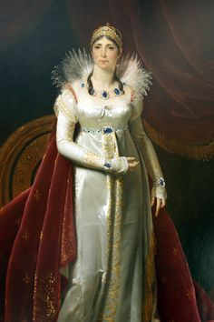 Joséphine de Beauharnais 1763/1814 Impératrice des Français et Reine d'Italie 1804/1809 Portrait en pied de l'Impératrice Joséphine peint en 1806 par Henri-François Riesener, exposé au château de la Malmaison, à Rueil-Malmaison près de Paris