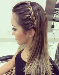 Braided Headband For Straight Ombre Hair