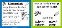 spelling hoor je na een s de g dan sch Dutch Language, Teacher Inspiration, Letter F, Kids Class, Gifted Kids, School Hacks, Good To Know, Grammar, Back To School