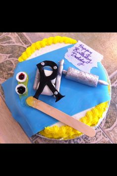 Custom Tattoo Machine Cake for Rafael