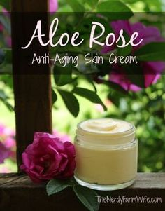Aloe Rose Anti-Aging Skin Cream      2 tablespoons jojoba oil (1 ounce by weight)     1 tablespoon rosehip seed oil (0.5 ounce)     1.5 ...