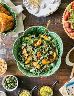 Grilled peach salad #recipe | Lifestyle Collective Hosts: A Summer Soirée