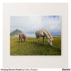 Grazing Horses Puzzle Make Your Own Puzzle, Custom Gift Boxes, Sticker Shop, Chipboard, High Quality Images, Equestrian, Jigsaw Puzzles, Moose Art, Indie