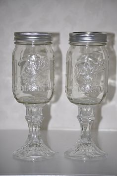 Redneck wine glasses? Or perfect toasting glasses for a couple with a sense of humor.