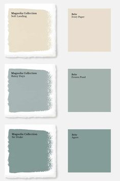 Magnolia Paint Colors Matched to Behr - Joyful Derivatives Discover the secret to getting you favorite fixer upper paint colors from Behr at your local Home Depot with these Magnolia Home Paint color matches! Magnolia Paint Colors, Fixer Upper Paint Colors, Magnolia Homes Paint, Behr Paint Colors, Matching Paint Colors, Bedroom Paint Colors, Exterior Paint Colors, Paint Colors For Home, House Colors