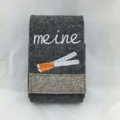 Tabakbeutel - Zigarettenetui aus Wollfilz meine Zigaretten - ein Designerstück von Hermers-Design bei DaWanda