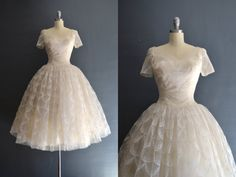Viola / 50s Cahill wedding dress / vintage 1950s by BreanneFaouzi