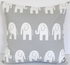 """Decorative pillow cover 16"""" x 16"""" Ele in storm gray"""
