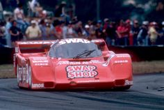 itsawheelthing: The Swap Shop Porsche 962 of A.J. Foyt & Bob Wollek on its way to victory at the 1985 Coca-Cola 12 Hours of Sebring