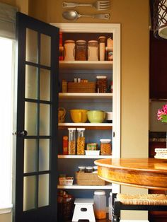 French door ~ a wonderful take on the typical pantry door! Design Ideas for Kitchen Pantry Doors : Home Improvement : DIY Network