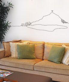 adesivo de parede: corcovado, adesivo decorativo