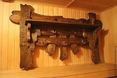 Купить Вешалка № 1 в старинном стиле - вешалка, прихожая, для бани, под старину