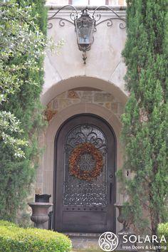 Gas Lantern & Iron Door