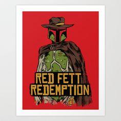 Red Fett Redemption Art Print by MeleeNinja - $14.56