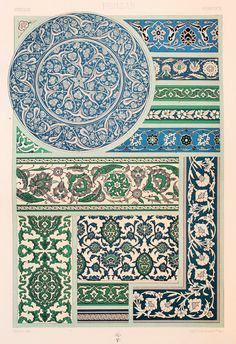 Persian Asian Decorative Ornament Earthenware by PaperPopinjay