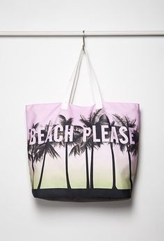 Beach Please Canvas Tote | Forever 21 - 1000167372