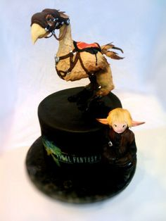 Final Fantasy Chocobo Cake. Ok. This is SERIOUSLY awesome.