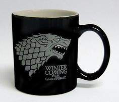 Stark taza negra blanca ceramica - game of thrones - 9,95€