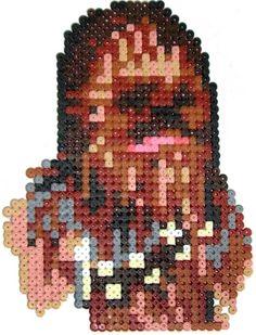 Chewbacca Star Wars hama perler beads by Pixgraff - Bijouterie Pearler Bead Patterns, Perler Patterns, Pearler Beads, Fuse Beads, Loom Beading, Beading Patterns, Chewbacca, Pixel Art Templates, Nerd Crafts