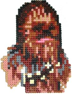 Chewbacca Star Wars hama perler beads by Pixgraff
