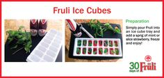 Jazz up your next cocktail with these Fruli ice cubes! Ice Cubes, Ice Cube Trays, Cocktails, Drinks, 30 Day, Jazz, Frozen, Strawberry, Beer