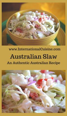 This Australian slaw recipe is a bit different than your average slaw with the addition of tomatoes, cucumber and red onion. It is light and a real treat, perfect as a side dish for just about anything.