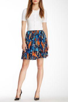 Estela Print Pleated Skirt by Catherine Malandrino on @nordstrom_rack