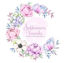Beautiful Floral Border Wreath Watercolor, Watercolor Flowers, Pastell Tattoo, Cake Logo Design, Hand Painted Fabric, Floral Embroidery Patterns, Summer Wallpaper, Floral Logo, Sketch Markers