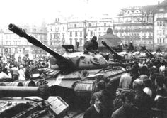 Soviet heavy tank in Prague, 1968 Visit Prague, Prague Cz, Prague Spring, Tank You, East Germany, Old Paintings, Cold War, More Pictures, Old Photos